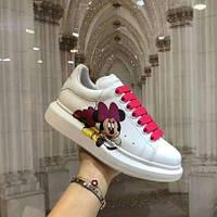 Шикарные женские сникерсы кроссовки с цветным задником в стиле Alexander McQueen