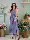Сукня жіноча джинс літній р 42, 44, 46 різні кольори, фото 3