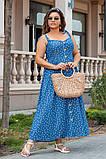 Сукня жіноча джинс літній р 42, 44, 46 різні кольори, фото 6