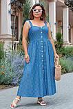 Сукня жіноча джинс літній р 42, 44, 46 різні кольори, фото 5