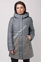 Комбінована куртка великого розміру Quiet Poem 0703, фото 1