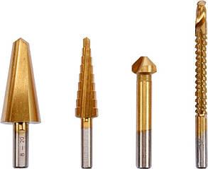 Сверла универсальные разновидные по металлу STHOR 8-20 мм 4-12 мм 12.4 мм 6 Х 90 мм HSS 4241 4 шт