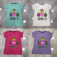 Детская футболка AMONG US для девочек 2-6 лет,цвет уточняйте при заказе, фото 1