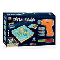 Конструтор - мозаїка Diy Light Puzzle з шуруповертом 200 деталей (96231), фото 1