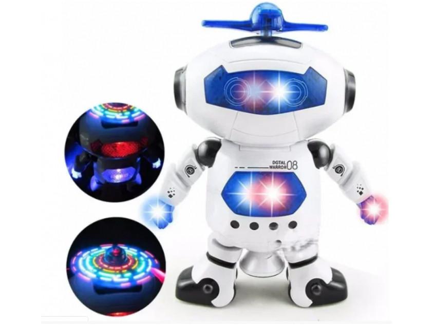 Танцующий светящийся интерактивный робот танцор детский Dancing Robot