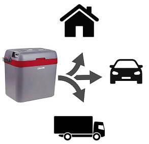 Автохолодильник DMS двокамерний 12-24/230V 33 літра, функції COLD та HOT, фото 2