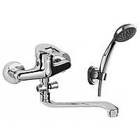 Смеситель NARCIZ для ванны однорычажный, S-излив 350 мм, хром 40мм RBZ100-9A