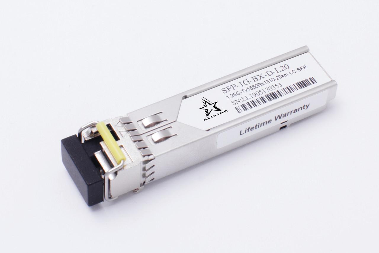 SFP 1000Base-BX 1SM WDM LC 20km TX1550/RX1310nm DDM Alistar