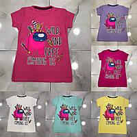 Детская футболка AMONG US для девочек 2-6 лет,цвет уточняйте при заказе