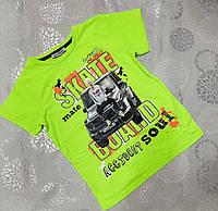 Стильна підліткова трикотажна футболка для хлопчика А4 розмір 8-14 років, колір уточнюйте при замовленні, фото 1