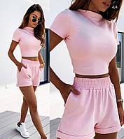 Жіночий стильний костюм: шорти і топ, фото 1