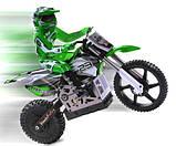 Радіокерована модель Мотоцикл 1:4 Himoto Burstout MX400 Brushed (зелений), фото 2