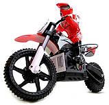 Радіокерована модель Мотоцикл 1:4 Himoto Burstout MX400 Brushed (червоний), фото 4