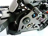 Радіокерована модель Мотоцикл 1:4 Himoto Burstout MX400 Brushed (червоний), фото 6