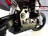 Радіокерована модель Мотоцикл 1:4 Himoto Burstout MX400 Brushed (червоний), фото 7