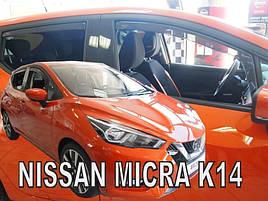 Дефлектори вікон (вітровики) NISSAN MICRA K 14, 5d 2017r.→(+OT)