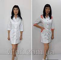 Жіночий медичний халат Еріка бавовна три чверті рукав