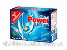 Таблетки Усе в одному для посудомийних машин без фосфатів G&G Power Active All in 1 40 шт