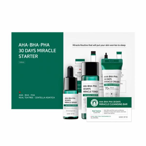 Набор миниатюр кислотных средств для проблемной кожи SOME BY MI AHA-BHA-PHA 30 Days Miracle Starter Kit