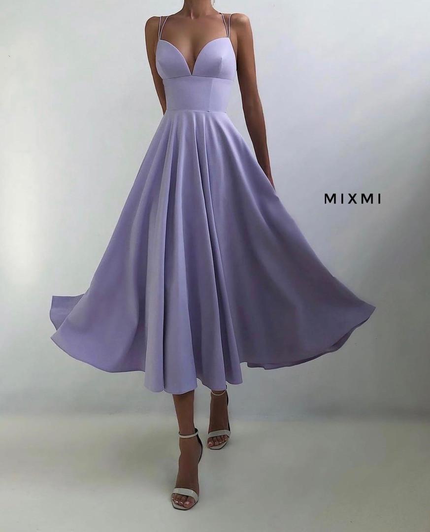 Женское платье, турецкая костюмка, р-р 42-44; 44-46 (сиреневый)