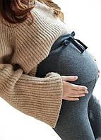620103 Лосины с начесом для беременных Серые, фото 1
