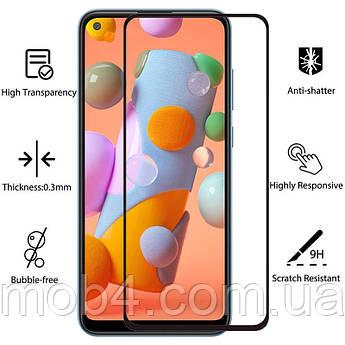Защитное стекло для Samsung Galaxy (Самсунг) A02 (На весь экран)