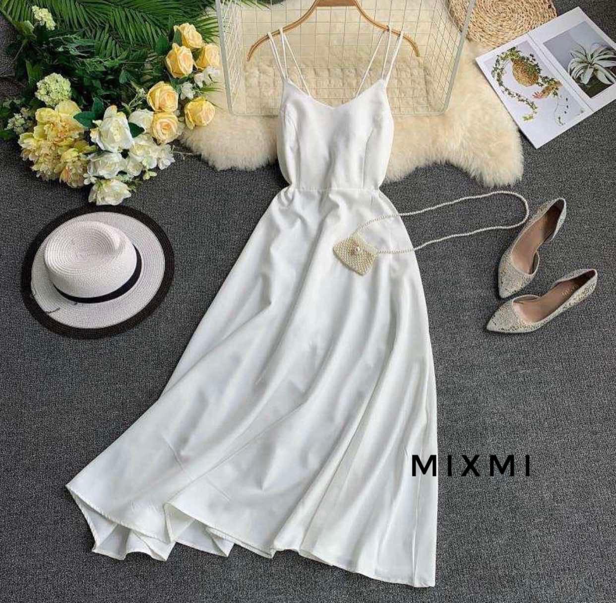 Женское платье, супер - софт, р-р 42-44; 44-46 (белый)