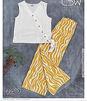 Детский костюм топ+кюлоты для девочки размер 6-9 лет,цвет уточняйте при заказе, фото 1