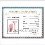Набір ролер і скребок Гуаша Jade Roller з натурального рожевого кварцу, фото 2