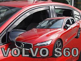 Дефлектори вікон (вітровики) VOLVO S60 III 4d 2018r. →(+OT)