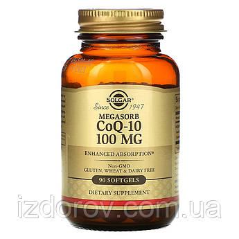 Solgar, Коэнзим Q10 с мегасорбом, CoQ10 100 мг, 90 капсул