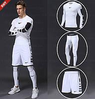 """Компрессионная одежда комплект 3 в 1 NIKE (Найк) для тренировок Белый Пакистан """"В СТИЛЕ"""""""