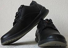 Мужские туфли натуральная кожа ботинки демисезонные на шнурках