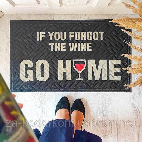 Коврик придверный с принтом If you forgot the wine go home