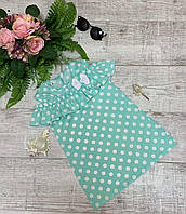 """Плаття дитяче софт для дівчинки """"ГОРОХ"""" розмір 1-5 років,колір уточнюйте при замовленні, фото 1"""