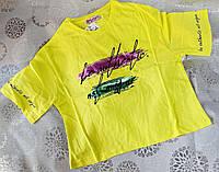 Стильна підліткова футболка-топ вільного крою для дівчинки 8-16 років, колір уточнюйте при замовленні, фото 1