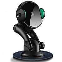 Автодержатель для телефона Usams US-CD94 Black + Беспроводная зарядка (CD94ZJ01)
