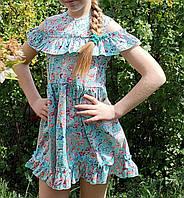 """Платье детское софт для девочки """"Цветочный принт"""" размер 5-8 лет,цвет уточняйте при заказе, фото 1"""