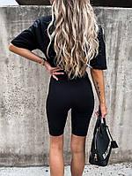 Женский прогулочный костюм с удлиненной футболкой и велосипедками (Норма), фото 5
