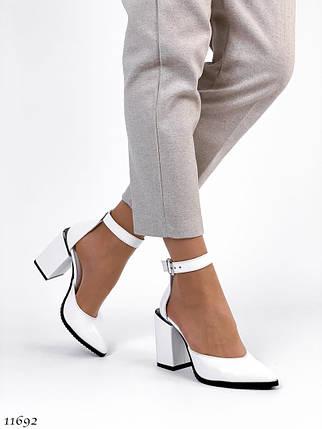 Туфли белого цвета 11692 (ЯМ), фото 2