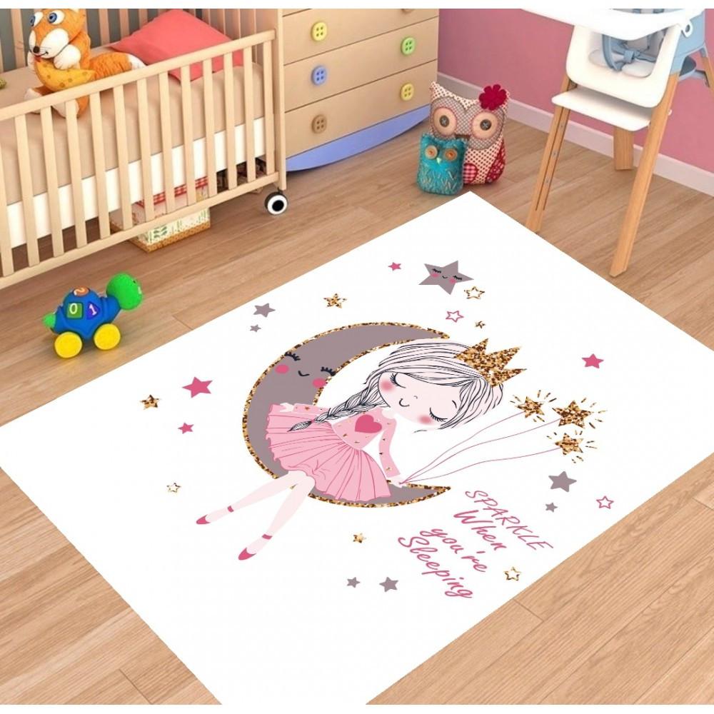 """Плюшевый утепленный детский коврик """"Маленькая принцесса"""""""