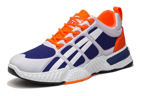Кросівки синьо-помаранчеві