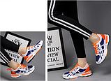 Кросівки синьо-помаранчеві, фото 3