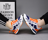 Кросівки синьо-помаранчеві, фото 4