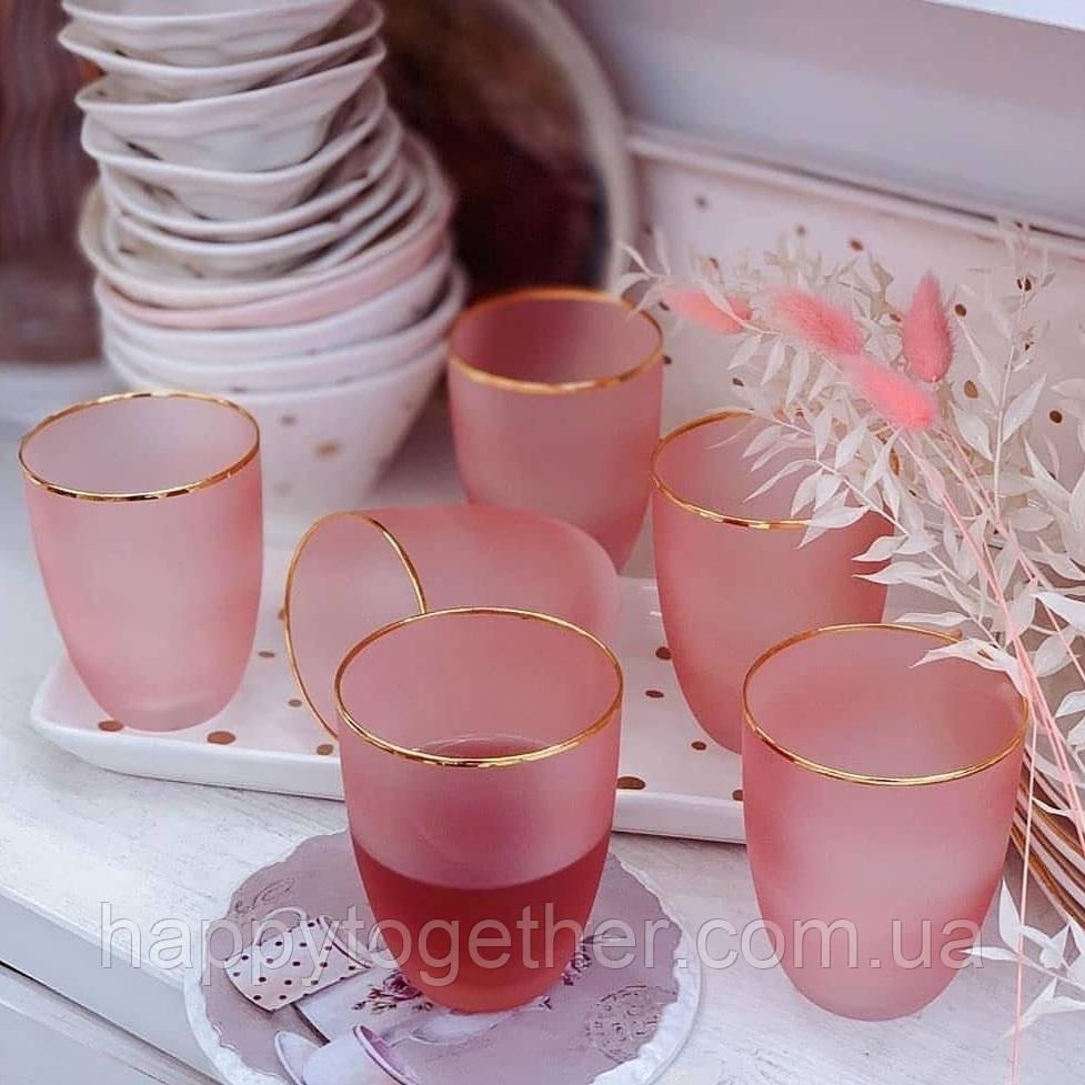 Набор стаканов DS Persia Pink 370 мл 6 шт Розовый