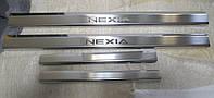 Накладки на пороги Daewoo Nexia 1994 - 4шт. premium
