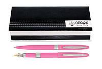 Набір ручок REGAL пір'яна і кулькова в подарунковому футлярі, рожеві