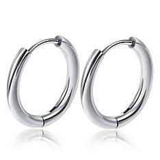Мужские серьги-кольца стальные