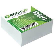 Блок бумаги для заметок Fresh Up FR-1212 клееный 85*85мм белый 400 листов