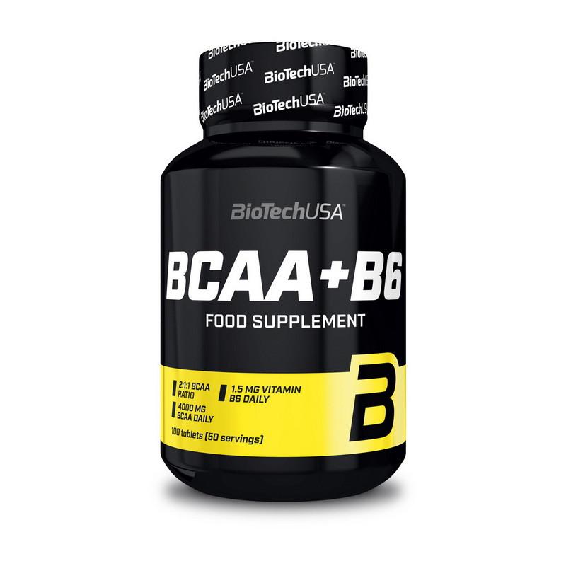 Амінокислоти bcaa BioTech BCAA + B6 (100 tabs)